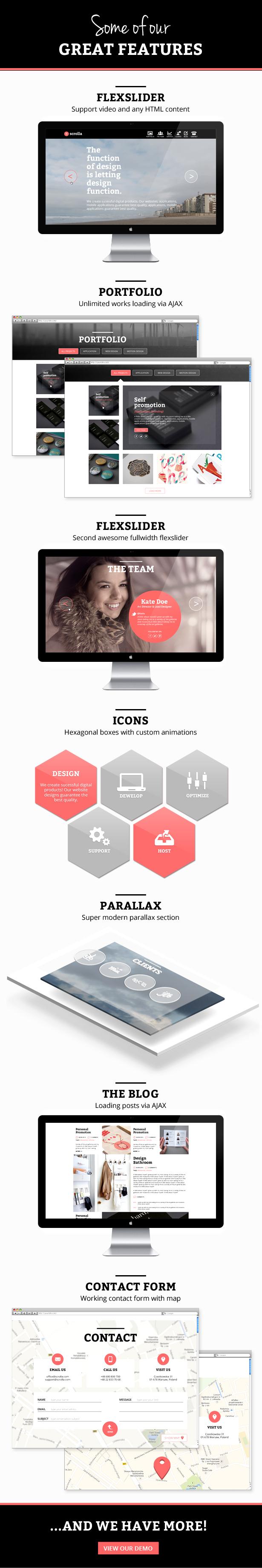 Scrolla - Parallax HTML Template